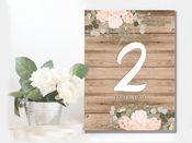 Wedding  Table Numbers  -  Metal Wall Sign